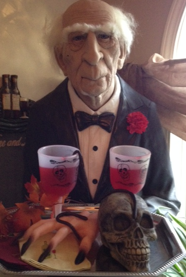 Jeeves, our butler loves Halloween!