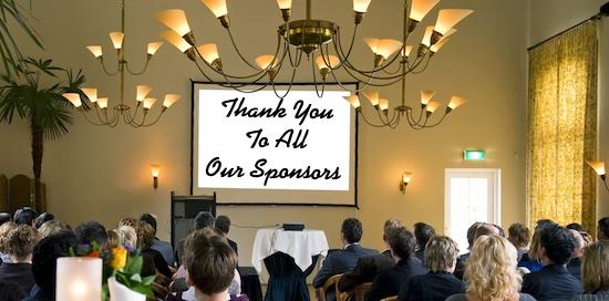 Sponsor appreciation is Key